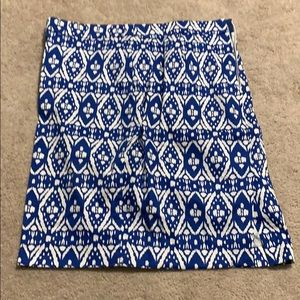 Pencil skirt- blue and white